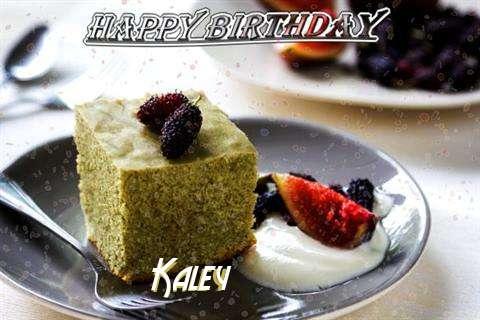 Happy Birthday Kaley Cake Image