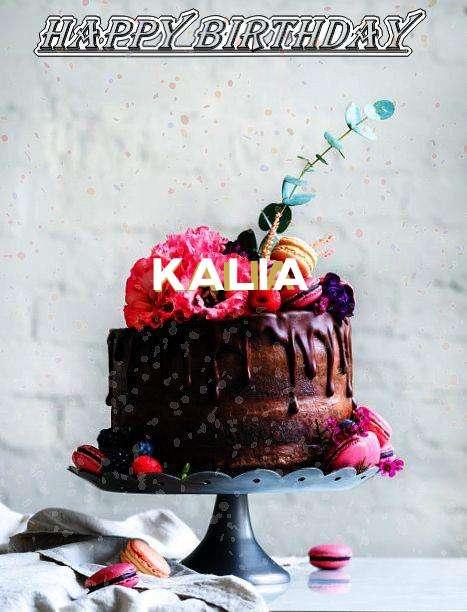 Happy Birthday Kalia Cake Image