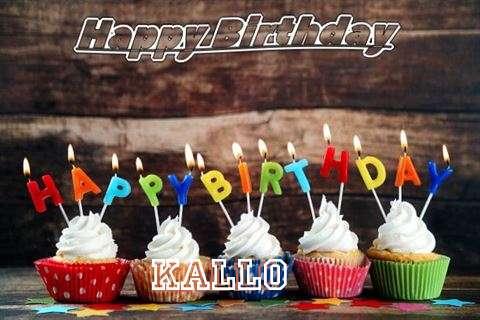 Happy Birthday Kallo Cake Image
