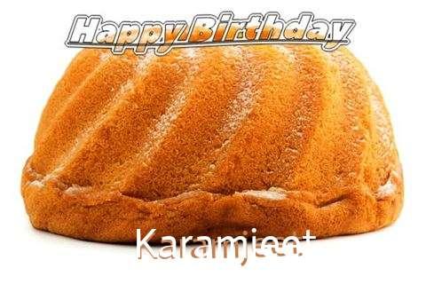Happy Birthday Karamjeet Cake Image