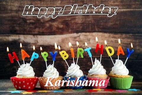 Happy Birthday Karishama Cake Image