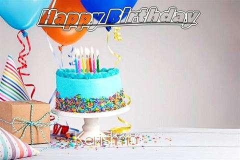 Happy Birthday Karishma Cake Image