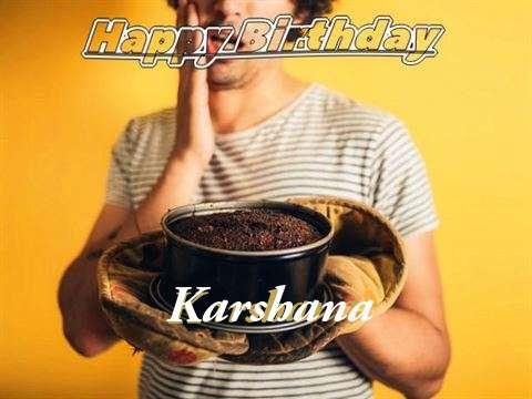 Happy Birthday Karshana Cake Image