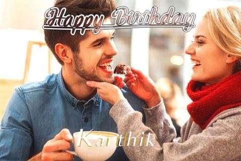 Happy Birthday Karthik Cake Image