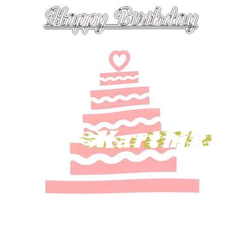 Happy Birthday Karthika Cake Image