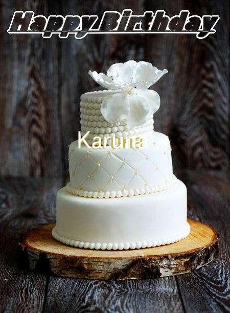 Happy Birthday Karuna Cake Image