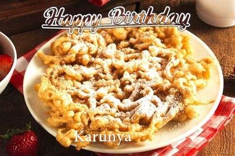 Happy Birthday Karunya Cake Image