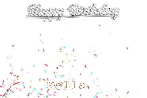 Happy Birthday to You Kolla