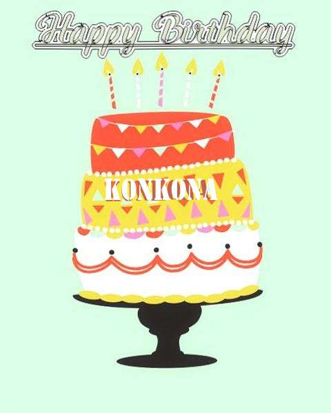 Happy Birthday Konkona Cake Image