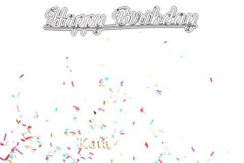 Happy Birthday to You Kota