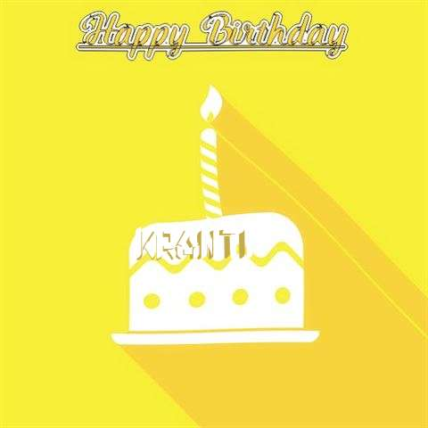 Birthday Images for Kranti