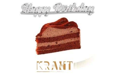 Happy Birthday Wishes for Kranti