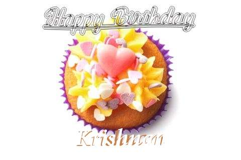 Happy Birthday Krishnam Cake Image