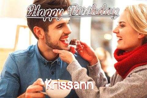 Happy Birthday Krissann Cake Image