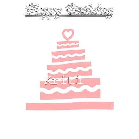 Happy Birthday Kriti Cake Image
