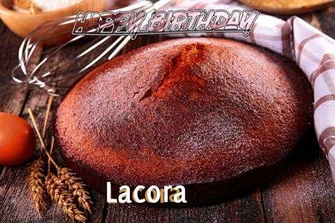 Happy Birthday Lacora Cake Image