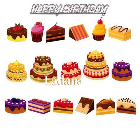 Happy Birthday Ladana Cake Image