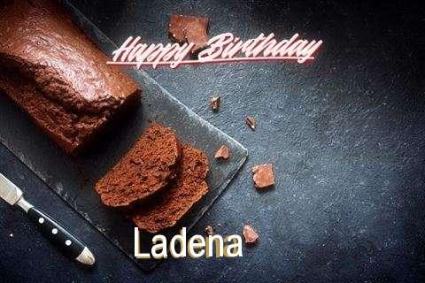 Happy Birthday Ladena Cake Image