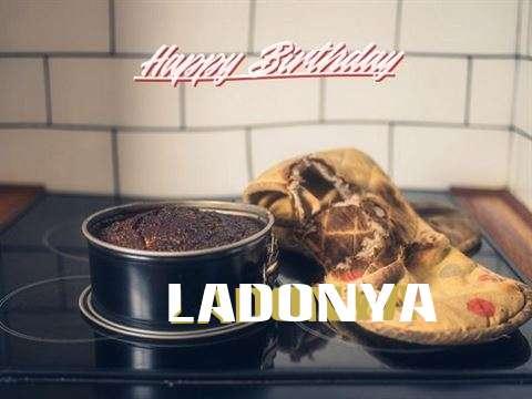 Happy Birthday Ladonya Cake Image