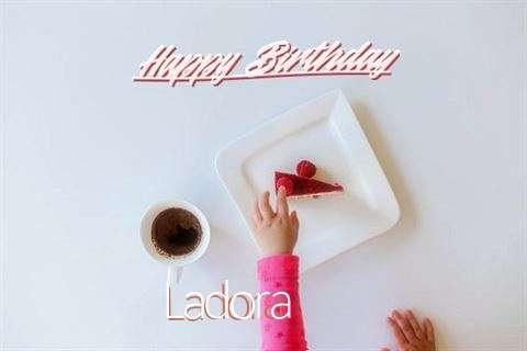 Happy Birthday Ladora Cake Image