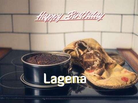 Happy Birthday Lagena Cake Image