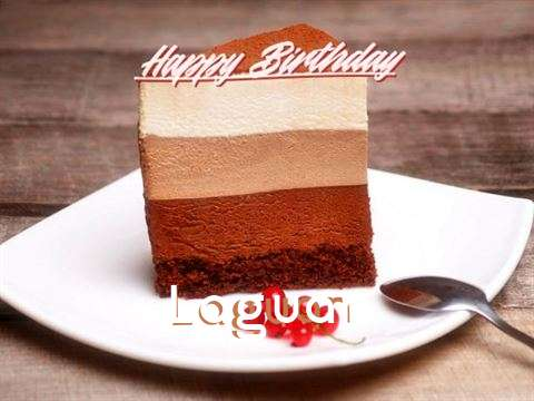 Happy Birthday Laguan Cake Image