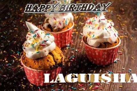 Happy Birthday Laguisha Cake Image