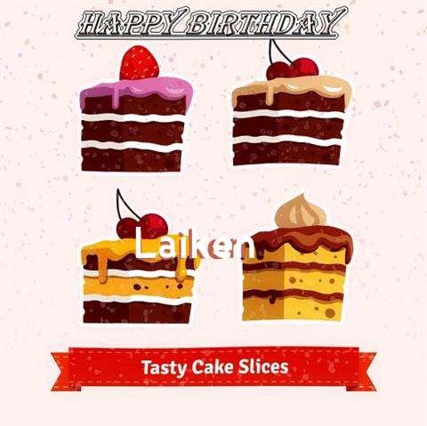 Happy Birthday Laiken Cake Image
