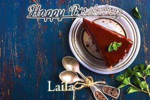 Happy Birthday Laila Cake Image