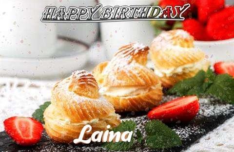 Happy Birthday Laina Cake Image