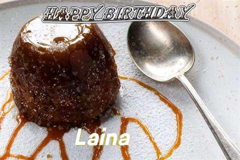 Happy Birthday Cake for Laina