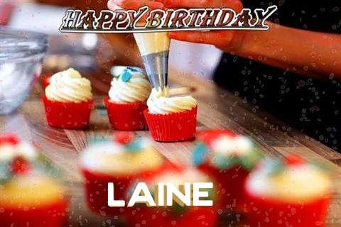 Happy Birthday Laine Cake Image