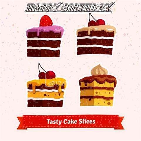 Happy Birthday Laiza Cake Image
