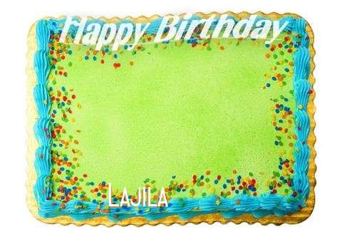 Happy Birthday Lajila Cake Image