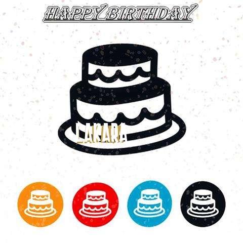 Happy Birthday Lakara Cake Image