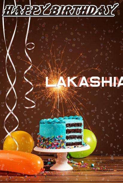 Happy Birthday Cake for Lakashia