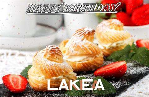 Happy Birthday Lakea Cake Image