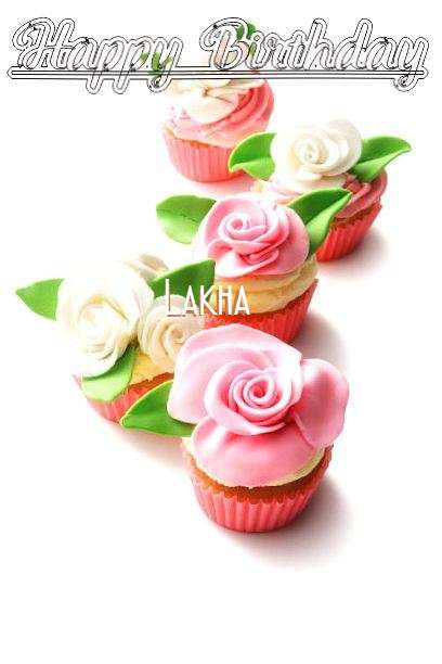 Happy Birthday Cake for Lakha