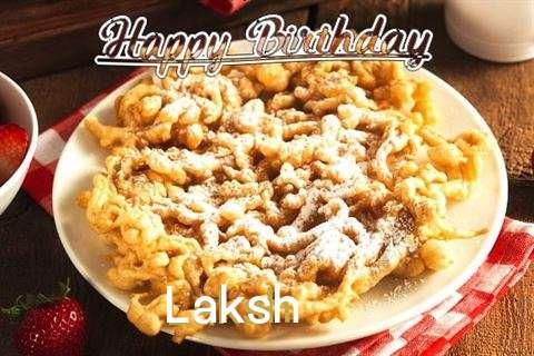 Happy Birthday Laksh Cake Image