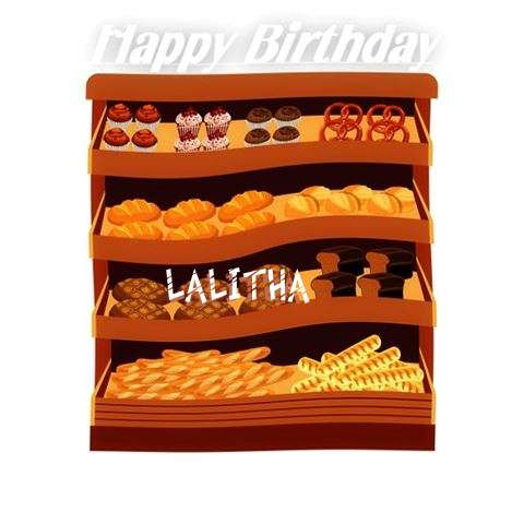 Happy Birthday Cake for Lalitha