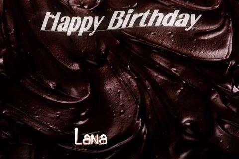 Happy Birthday Lana Cake Image
