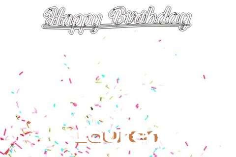 Happy Birthday to You Lauren