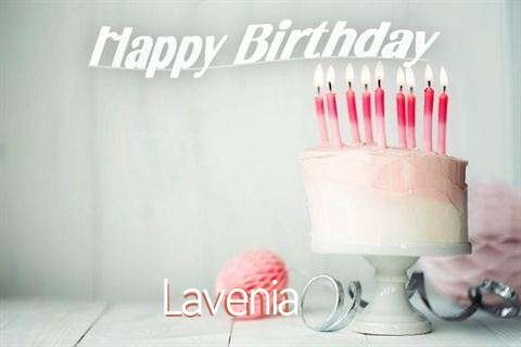 Happy Birthday Lavenia Cake Image