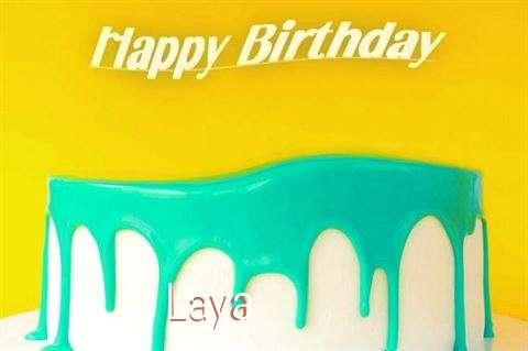 Happy Birthday Laya Cake Image