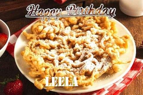 Happy Birthday Leela Cake Image