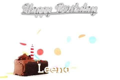 Happy Birthday Cake for Leena