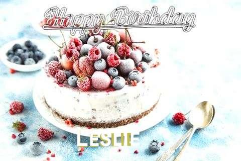 Happy Birthday Cake for Leslie