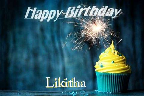 Happy Birthday Likitha Cake Image