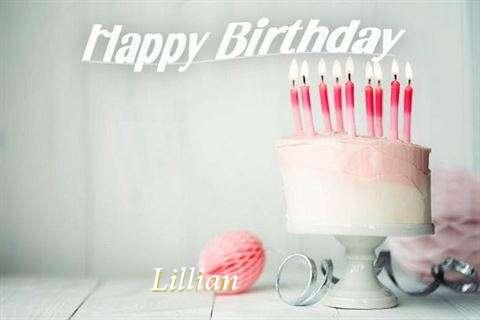 Happy Birthday Lillian Cake Image