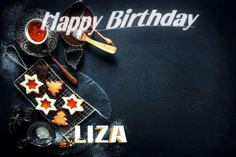Happy Birthday Liza Cake Image